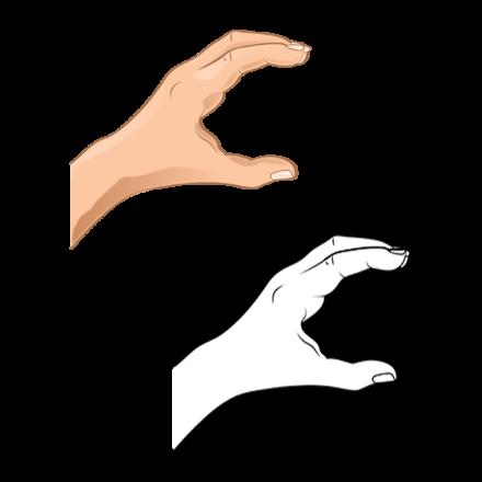 Hand-Gesture-C-bw-hand-1