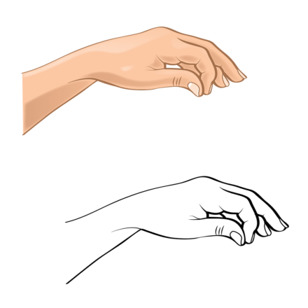 Hand Gesture C bw hand 2