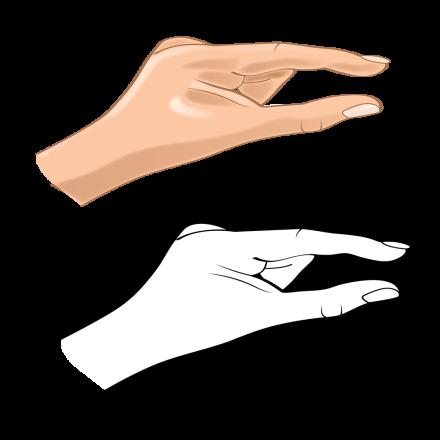 Hand Gesture C bw hand 3