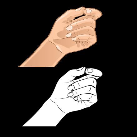 Hand Gesture C bw hand 5-01