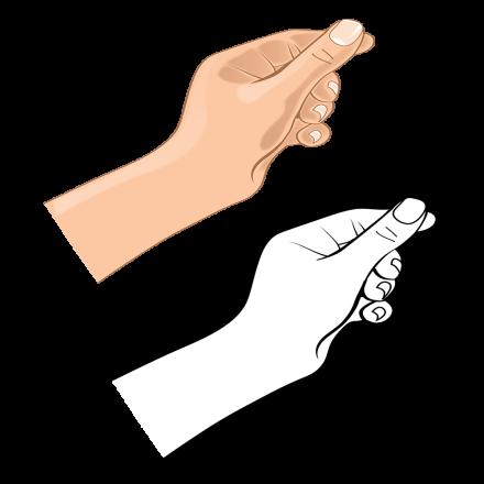 Hand Gesture C bw hand 6