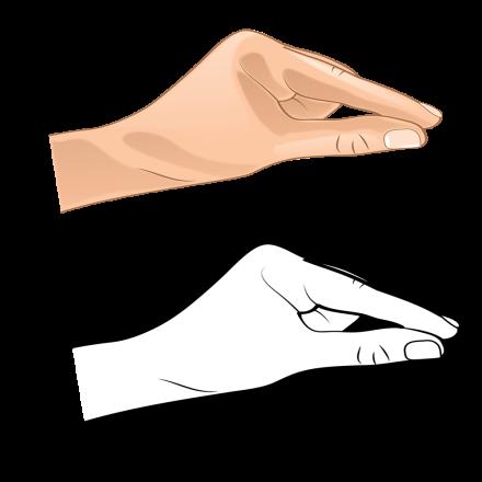 Hand Gesture C bw hand 8