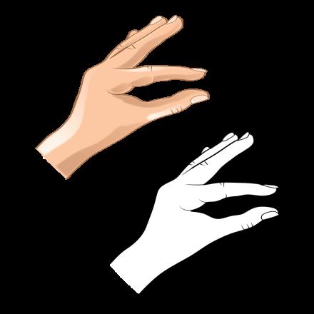 Hand Gesture C bw hand 9-01